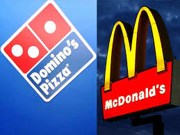 Dunkin' Donuts faces severe competition from Domino's Pizza and McDonald's